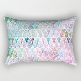 DAZZLING MERMAID SCALES Rectangular Pillow