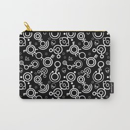 Crop Circles (White Lines) Carry-All Pouch