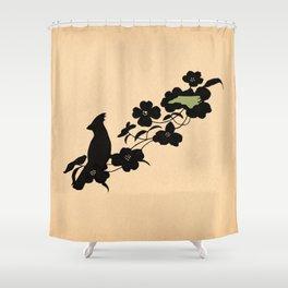 North Carolina - State Papercut Print Shower Curtain