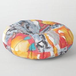 Utah Abstract Floor Pillow