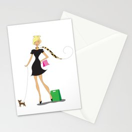 Uptown Girl Shopping Stationery Cards