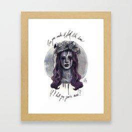 can you make it feel like home? Framed Art Print