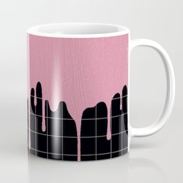 Dripping Pink Paint on Lines Coffee Mug