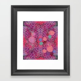 """Abstract polka dots in pink and pastel colors"" Framed Art Print"