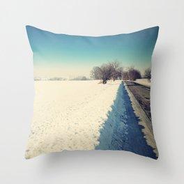 Snowy landscape Throw Pillow
