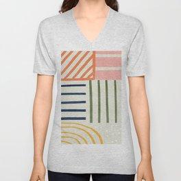 Colorful lines  Unisex V-Neck