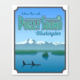 "Landmarks of Life: Puget Sound (16"" x 20"") Canvas Print"