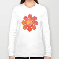 camo Long Sleeve T-shirts featuring Camo flowers by Shelly Bremmer