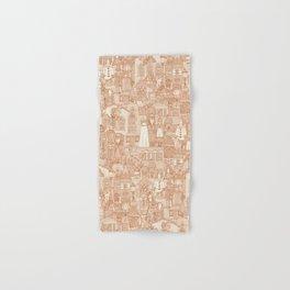 vintage halloween rust ivory Hand & Bath Towel