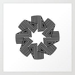Graphic Mandala 1 Art Print