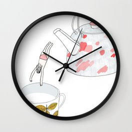 A nice hot bath, please Wall Clock