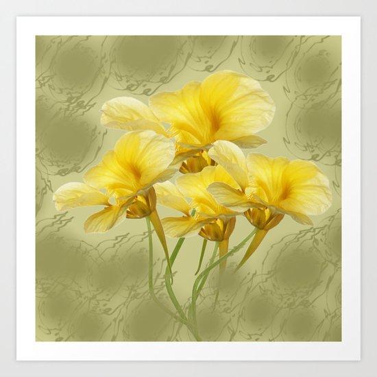 Summer Day Floral Art Print