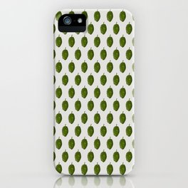 Hops Light Gray Pattern iPhone Case