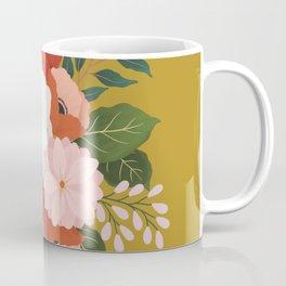 Florals on Mustard Coffee Mug