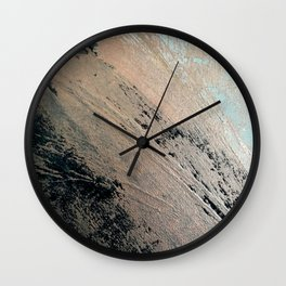 Landslide: a pretty, minimal abstract piece in pink, and blues Wall Clock