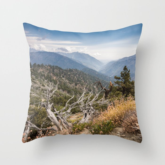 Inspiration Point along Pacific Crest Trail Throw Pillow