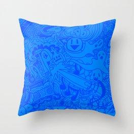 Tab Graffiti Throw Pillow
