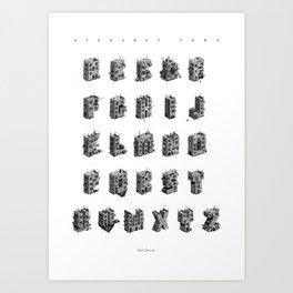 Alphabet Town Art Print