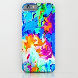 Gushing floral abstract iPhone Case