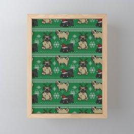 CHRISTMAS PUG Framed Mini Art Print