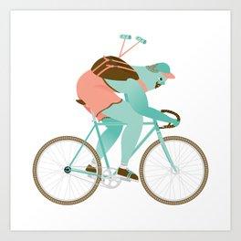 Biker guy Art Print