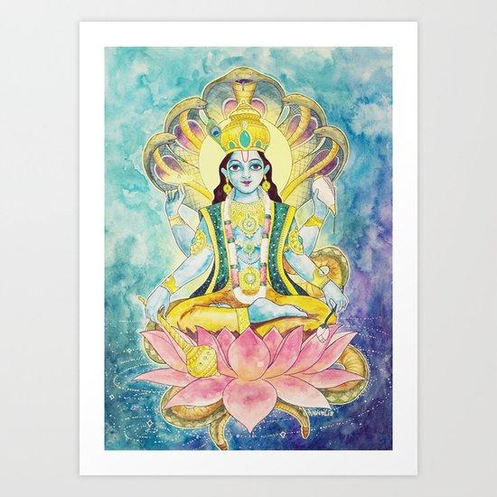 Preservation, Vishnu Art Print