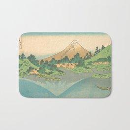 Reflection in Lake at Misaka in Kai Province, Thirty-six Views of Mount Fuji by Katsushika Hokusai Bath Mat