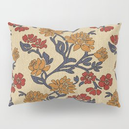 Vintage victorian floral upholstery fabric light background Pillow Sham