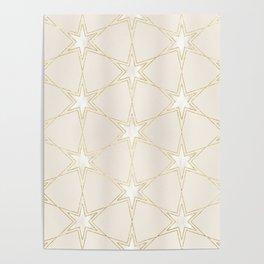 Celestial Pearl Gilded Stars Poster