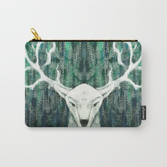 Christmas Stag handpainted Carry-All Pouch