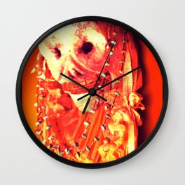 Day of the Dead Chroma Hot Wall Clock