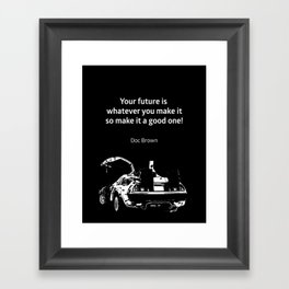 Back To The Future Doc Brown Quote 80s Poster Framed Art Print