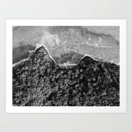 The black and white shore | Fine art travel photography | Dominican Republic Art Print