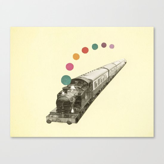 Rainbow Train Canvas Print