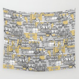 Paris toile gold Wall Tapestry