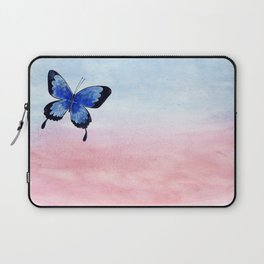 Blue Butterfly watercolor painting Laptop Sleeve