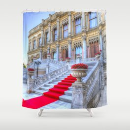Ciragan Palace Istanbul Red Carpet Shower Curtain
