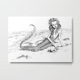 Undine: Creepy Mermaid Metal Print