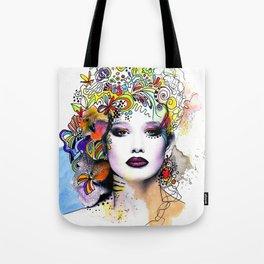 Fantasy Flower Girl Tote Bag