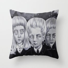Village of the damned Throw Pillow