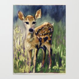 Here I am Deer Poster