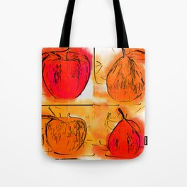 Four Corners Of Apples And Pears Tote Bag