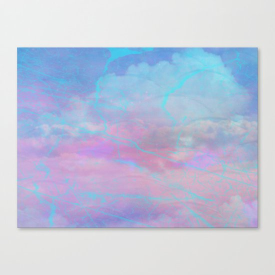 Marble Sky Abstract Canvas Print