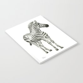 Zebra Watercolor Baby Animals Notebook