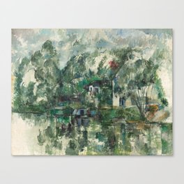 Paul Cezanne, At the Water's Edge,1890 Canvas Print