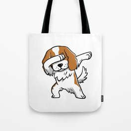 Funny Dabbing Cavalier King Charles Spaniel Dog Dab Dance Tote Bag
