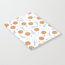 Happy Milk and Cookies Pattern Notebook