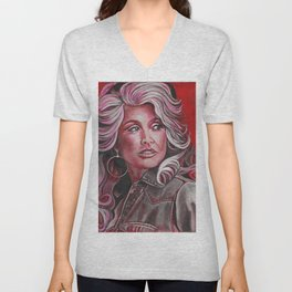 Dolly Parton in Pink Unisex V-Neck