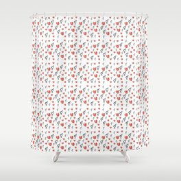 Symbol of Transgender 75 with heart Shower Curtain