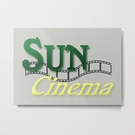 Sun Cinema Metal Print